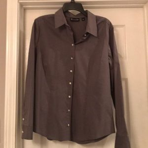 Gray Piped Madison Stretch Shirt